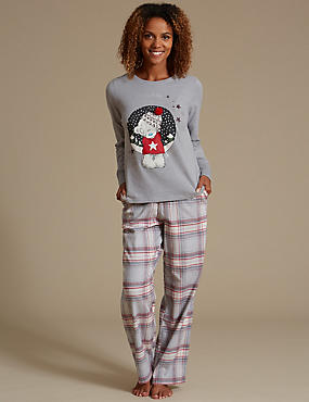 Cotton Rich Long Sleeve Pyjamas