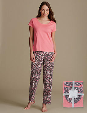 Pure Cotton Ditsy Floral Print Pyjama Set