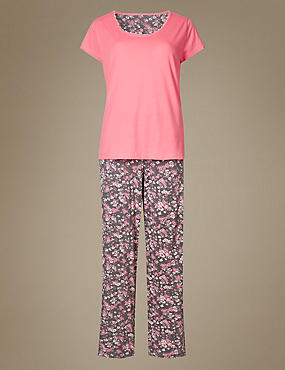 Pure Cotton Ditsy Floral Print Pyjamas