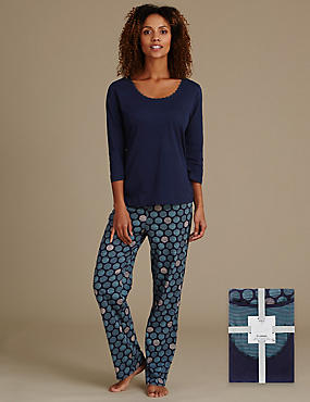 Pure Cotton Big Spotted Pyjamas