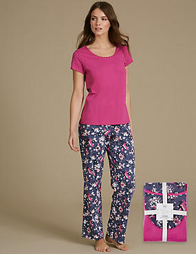 Pure Cotton Printed Short Sleeve Pyjama Set