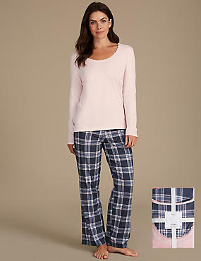 Pure Cotton Printed Long Sleeve Pyjamas