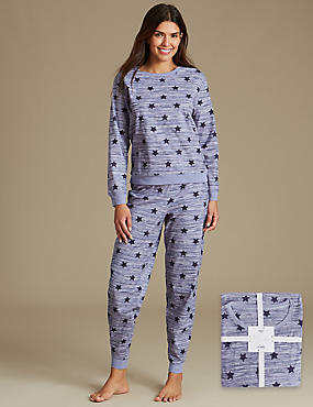 Star Print Long Sleeve Pyjamas with StayNEW™