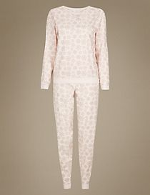 All Over Snowflake Print Long Sleeve Pyjamas with StayNEW™