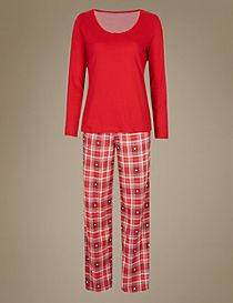 Pure Cotton Long Sleeve Pyjamas with StayNEW™