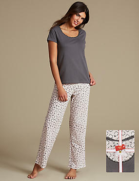 Pure Cotton Penguin Print Pyjamas with StayNEW™