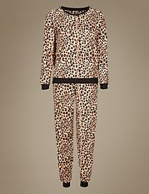 Animal Print Long Sleeve Pyjamas