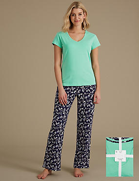 Pure Cotton Short Sleeve Pyjama Set