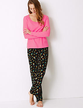Pure Cotton Pineapple Print Pyjama set, BLACK MIX, catlanding