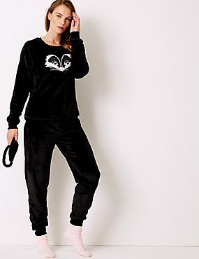 Racoon Pyjama Boxed Gift Set, DARK GREY MIX, catlanding
