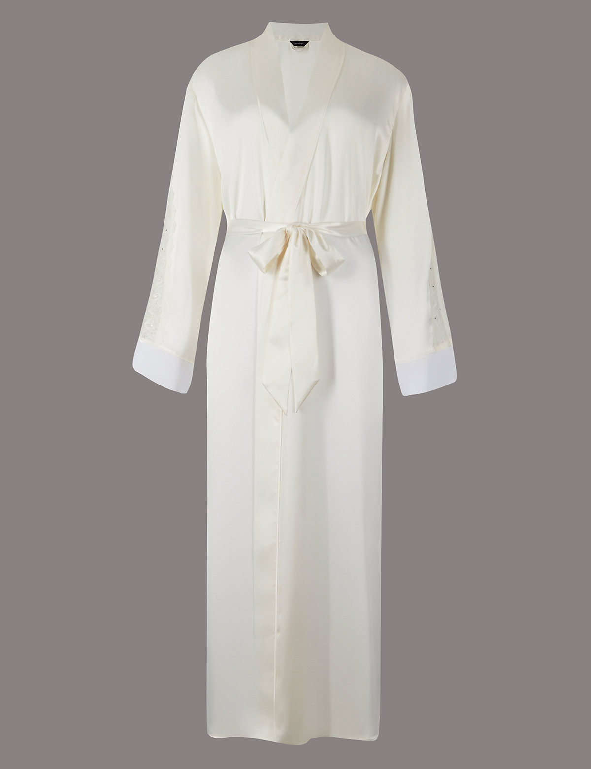 Floral Lace Wrap Long Dressing Gown MADE WITH SWAROVSKI® ELEMENTS ...