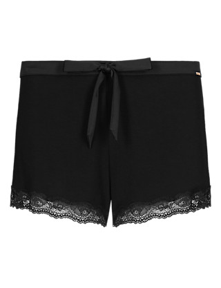 Floral Lace Pyjama Shorts Clothing
