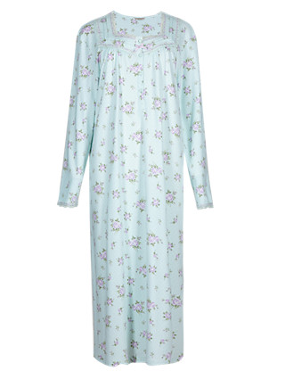Pure Cotton Floral & Spotted Nightdress Clothing
