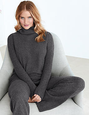 Pure Cashmere Straight Leg Pyjama Bottoms