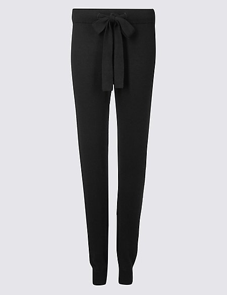 Cuffed Hem Pyjama Bottoms with Cashmere