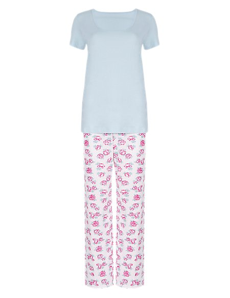 Pure Cotton Floral Pyjamas