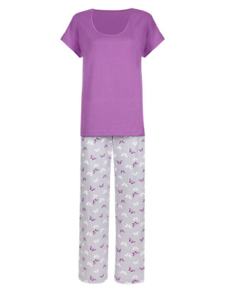 Pure Cotton Butterfly Print Pyjamas Clothing