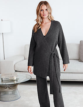 Pure Cashmere Long Sleeve Dressing Gown