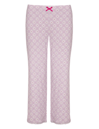 Floral Cropped Pyjama Bottoms Clothing