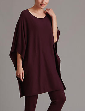 Poncho Pyjama Top with Cashmere