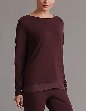 Long Sleeve Pyjama Top with Cashmere