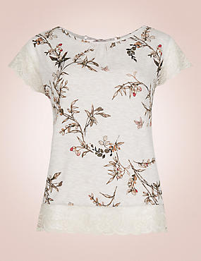 Short Sleeve Printed Pyjama Top