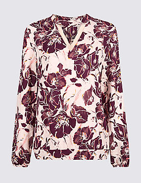 Floral Print Long Sleeve Pyjama Top