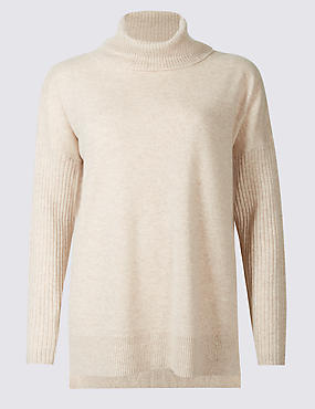 Pure Cashmere Funnel Neck Pyjama Top