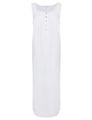Pure Cotton Long Nightdress with Cool Comfort™ Technology Clothing