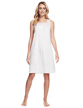 Modal Blend Embroidery Neckline Nightdress with Cool Comfort™ Technology