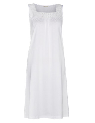 Modal Blend Embroidery Neckline Nightdress with Cool Comfort™ Technology Clothing