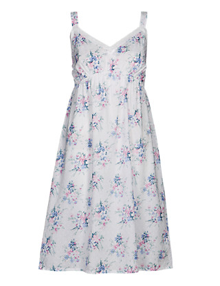 Pure Cotton Floral Chemise with Cool Comfort™ Technology Clothing