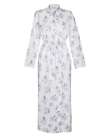 Pure Cotton Dressing Gown with Cool Comfort™ Technology with Shelf Support
