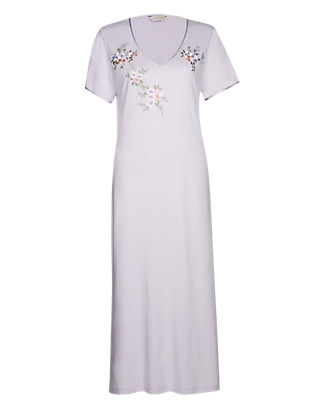 Modal Blend Floral Long Nightdress with Cool Comfort™ Technology Clothing