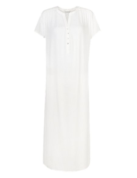 Pure Modal Floral Embroidery Long Nightdress with Cool Comfort™ Technology