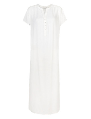 Pure Modal Floral Embroidery Long Nightdress with Cool Comfort™ Technology Clothing