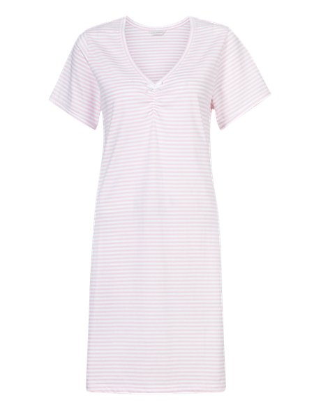 Pure Cotton Striped Minishirt with Cool Comfort™ Technology