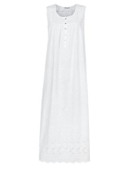 Pure Cotton Floral Embroidered Nightdress with Cool Comfort™ Technology