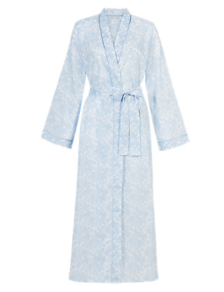 Pure Cotton Floral Dressing Gown with Cool Comfort™ Technology Clothing
