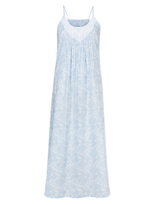 Pure Cotton Floral Nightdress with Cool Comfort™ Technology Clothing