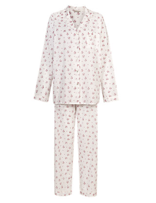 Pure Cotton Rose Print Pyjamas with Cool Comfort™ Technology Clothing