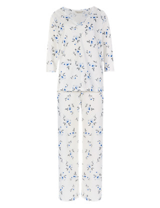 Pure Cotton Floral Pyjamas with Cool Comfort™ Technology Clothing