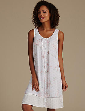 Pure Modal Floral Print Short Nightdress