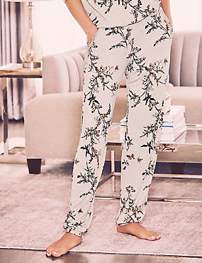 Printed Cuffed Hem Pyjama Bottoms