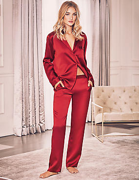 Pure Silk Revere Collar Pyjamas