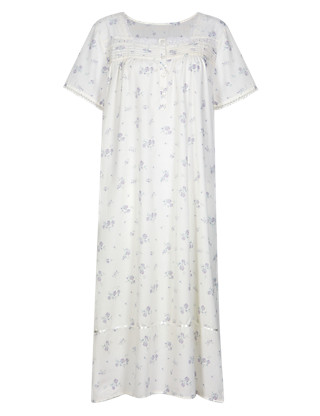 Floral Pintuck Nightdress Clothing