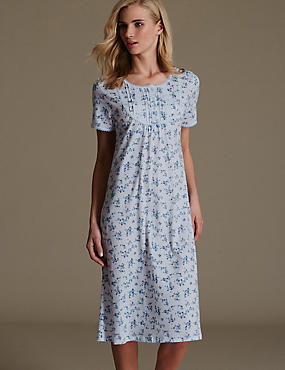 Pure Cotton Ditsy Floral Nightdress