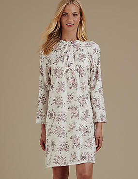 Pure Cotton Floral Print Nightdress