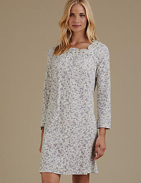 Pure Cotton Jersey Print Nightdress