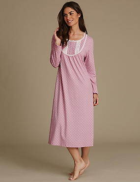 Cotton Rich Geometric Print Nightdress